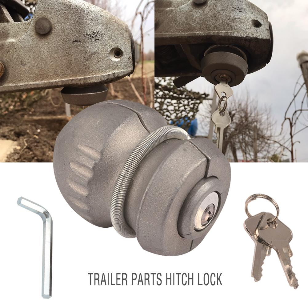 Trailer Parts Hitch Lock Ball Zinc Alloy Universal Coupling For Tow Caravan