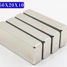 36 шт. Магнит N50 50*20*10 большой объем супер сильные полосы Блок Магниты редкоземельные неодимовые 50x20x10 50 мм x 20 мм x 10 мм