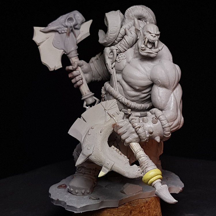 1/24  Resin Model figure ,Orc Rager Unassembled and unpainted kit1/24  Resin Model figure ,Orc Rager Unassembled and unpainted kit