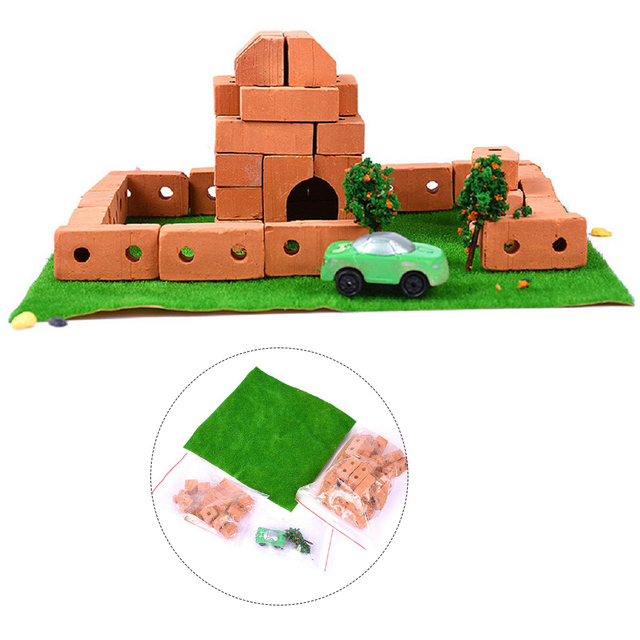 Crab Kingdom Science Technology Experiments Small Inventions Models Toys Educational Learning Tool Kits toy-small brick castle