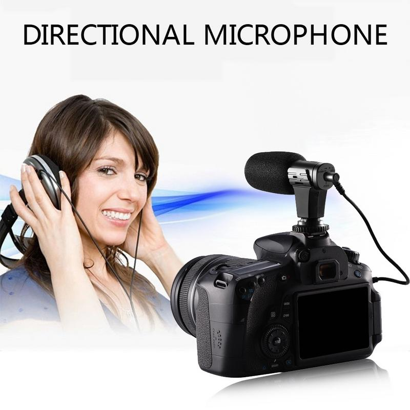 MIC 07 Straight in 3.5mm Directional Professional Interview Photography Microphone Support Monitor Audio Calibration
