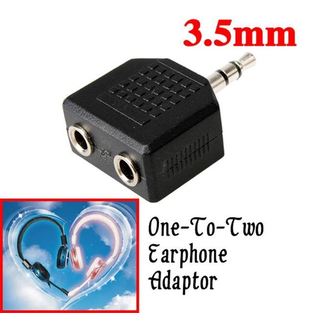 سماعات عالية الجودة سماعة مفرق سماعة رأس محول 3.5 مللي متر إلى 2 سماعات الأذن سماعة ستيريو الخائن سماعة اكسسوارات الساخن بيع