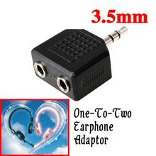 High Quality Audio Earphone Headphone Splitter Adapter 3.5mm to 2 Earbuds Stereo Headset Splitter Earphone Accessories Hot Sale