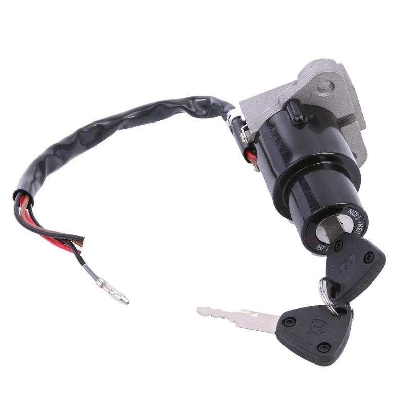 VODOOL Motorcycle Accessories <font><b>Parts</b></font> Motorcycle Ignition Switch Lock Assembly with 2 Keys for <font><b>Yamaha</b></font> DT 125R TZR250 XT350 <font><b>XT600</b></font> image