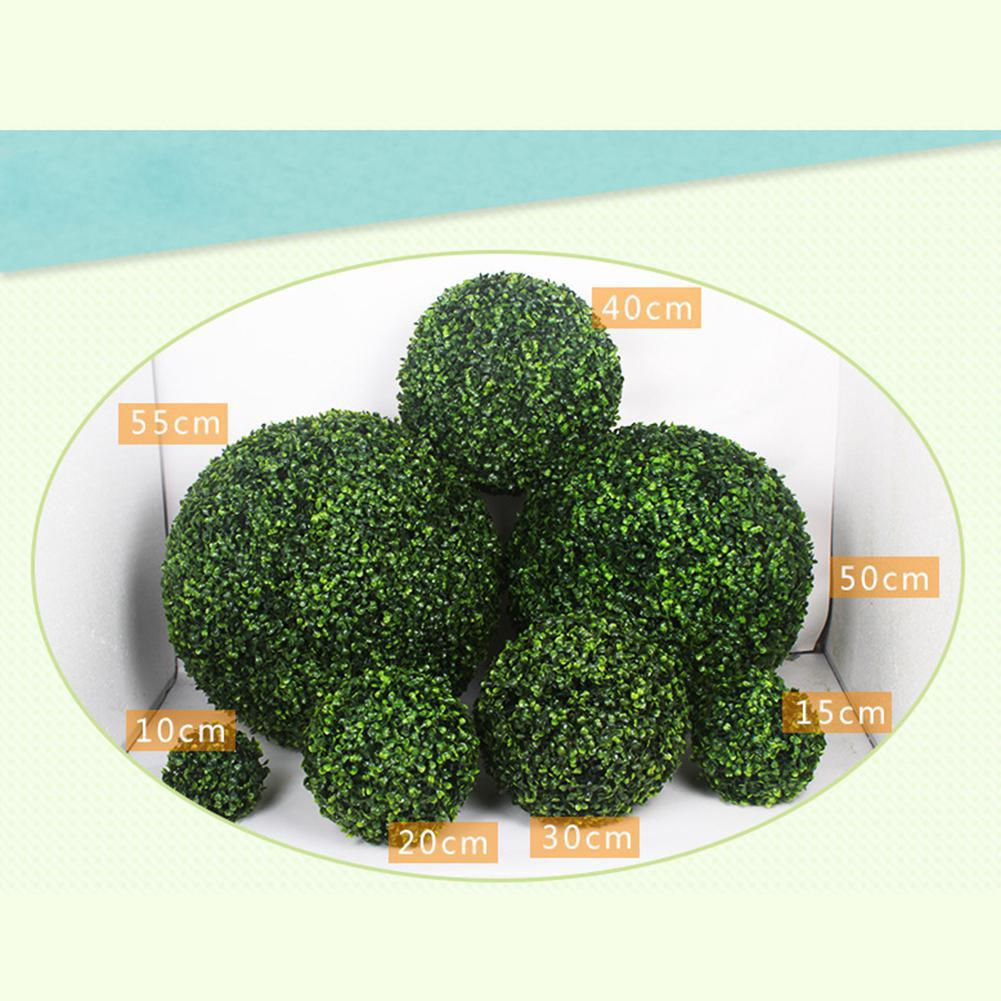 Image 4 - Simulate Plastic Green Leave Ball Artificial Grass Ball Home Garden Wedding Party Decoration-in Artificial & Dried Flowers from Home & Garden
