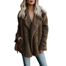 Try Everything Fleece Jacket Women Plus Size Coat Winter 2019 Army Green Basic For Clothes Jackets Outwear