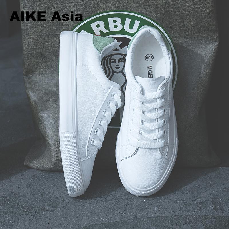 HOT Women Sneakers Fashion Breathble Vulcanized Shoes Pu Leather Platform Lace Up Casual White Tenis Feminino Zapatos De Mujer 6