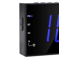 Electronic USB LED Display Home Office Use FM Raido Desktop Alarm Clock Rechargeable Dimmer Projection Energy Saving
