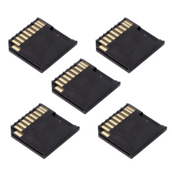 10pcs/lot  5pcs Micro SD TF to SD Card Kit Mini Adaptor Low Profile for Extra Storage
