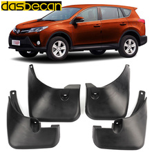 цена на Dasbecan Car Mudguards For Toyota RAV 4 2013-2015 Car Fender Accessories Splash Guard Paneling 2013 2014 2015