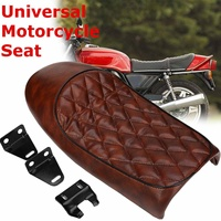 53cm Waterproof Hump Saddle Cafe Racer Vintage Seat Cushion For Honda for CBR for Suzuki Brown Vintage Style Comfortable Seat