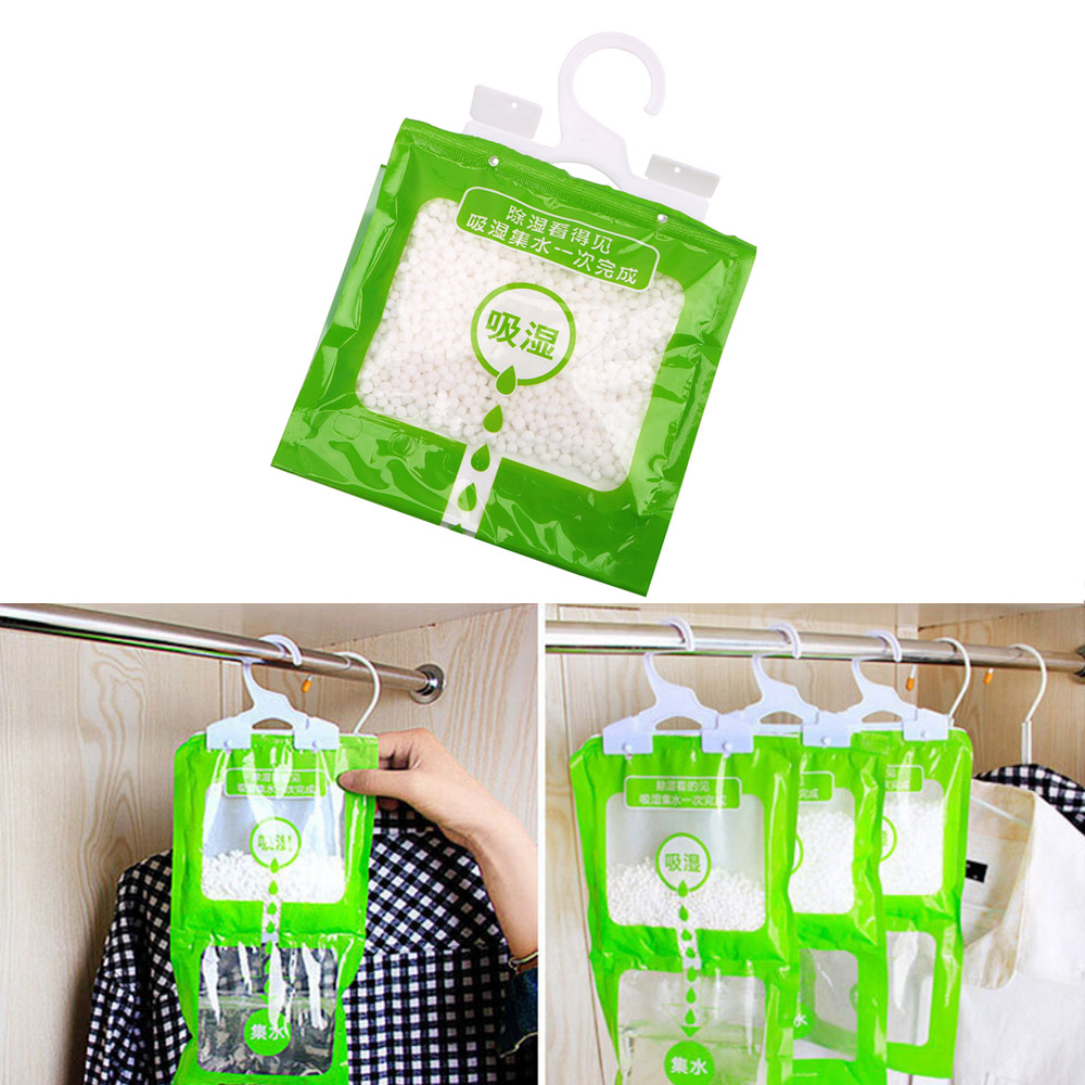 Closet Cabinet Dehumidifier Bag Wardrobe Hanging Moisture Absorbent Bags Anti-Mold Desiccant Packets 1 Pc