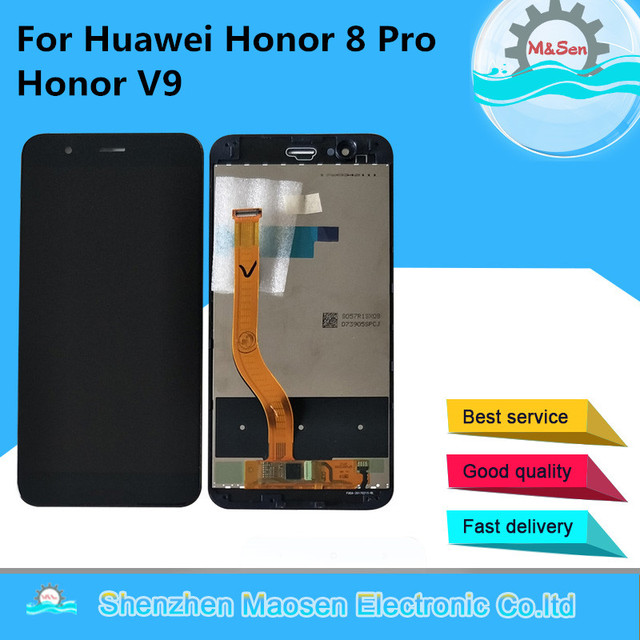 """5.7"""" Tested M&Sen For Huawei Honor V9 Honor 8 Pro DUK L09 DUK AL20 LCD Screen Display+Touch Panel Digitizer With Frame"""