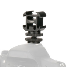 Ulanzi 3 Cold Shoe On-Camera Mount Adapter Extend Port for Canon Nikon Pentax DSLR Camera for Microphone Monitor LED Video Light