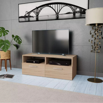 vidaXL Clearance Home TV Cabinet Stand Living Room Entertainment Center with Drawer Storage Bin