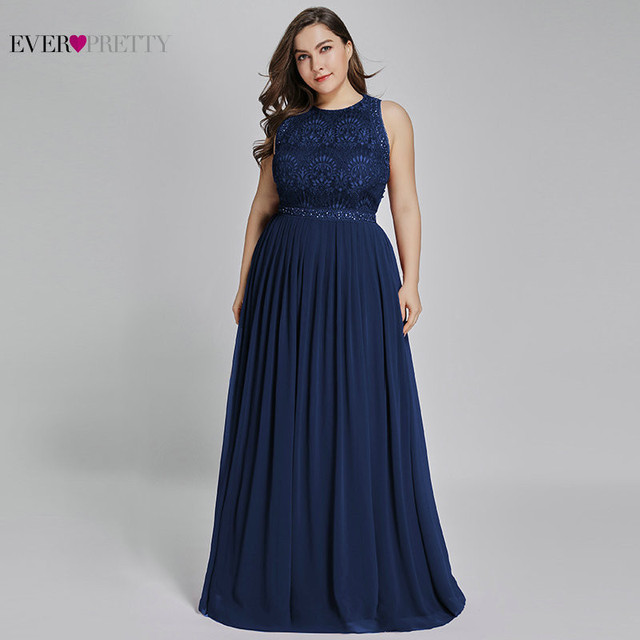 Mother Of The Groom Dresses Plus Size Ever Pretty Elegant A Line O Neck Beaded Lace Long Formal Party Gowns For Wedding 2020 5