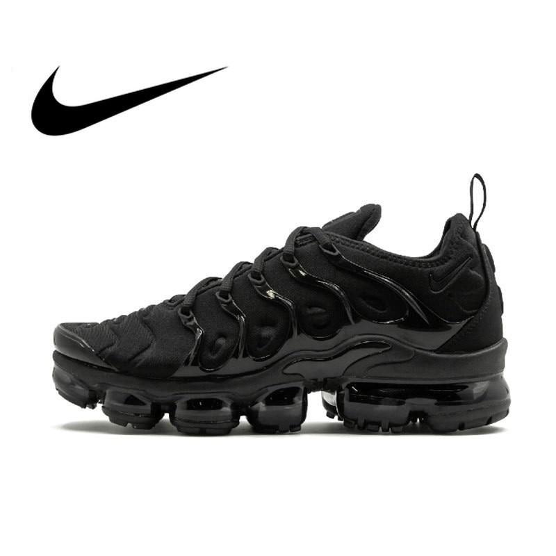 Nike Air Vapor Max Plus Men's Running Shoes Breathable Outdoor Sports Sneakers Footwear Original 924453-004