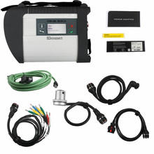 цена на MB Star C4 SDConnect Diagnosis C4 SD Full Chip With 5 Cables Multiplexer Support Cars and Trucks With 2 Years Warranty