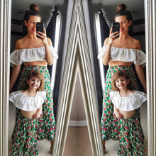 Summer Matching Mother Daughter Pineapple Dresses