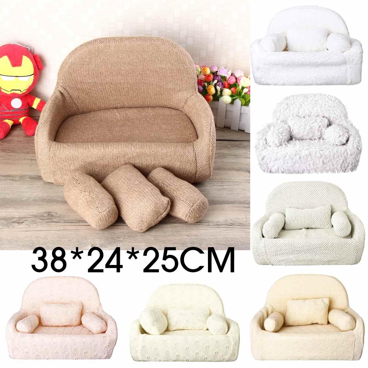 7 Styles Newborn Baby Sofa Chair Photography Prop Photo Baby Posing Chair+Pillow Set Mini Sofa Studio Shoot Backdrop Model Decor