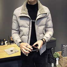 2018 new Winter parkas Coat Self-cultivation Thickening Cotton-padded Clothes jaket men overcoat discount My16b цены онлайн