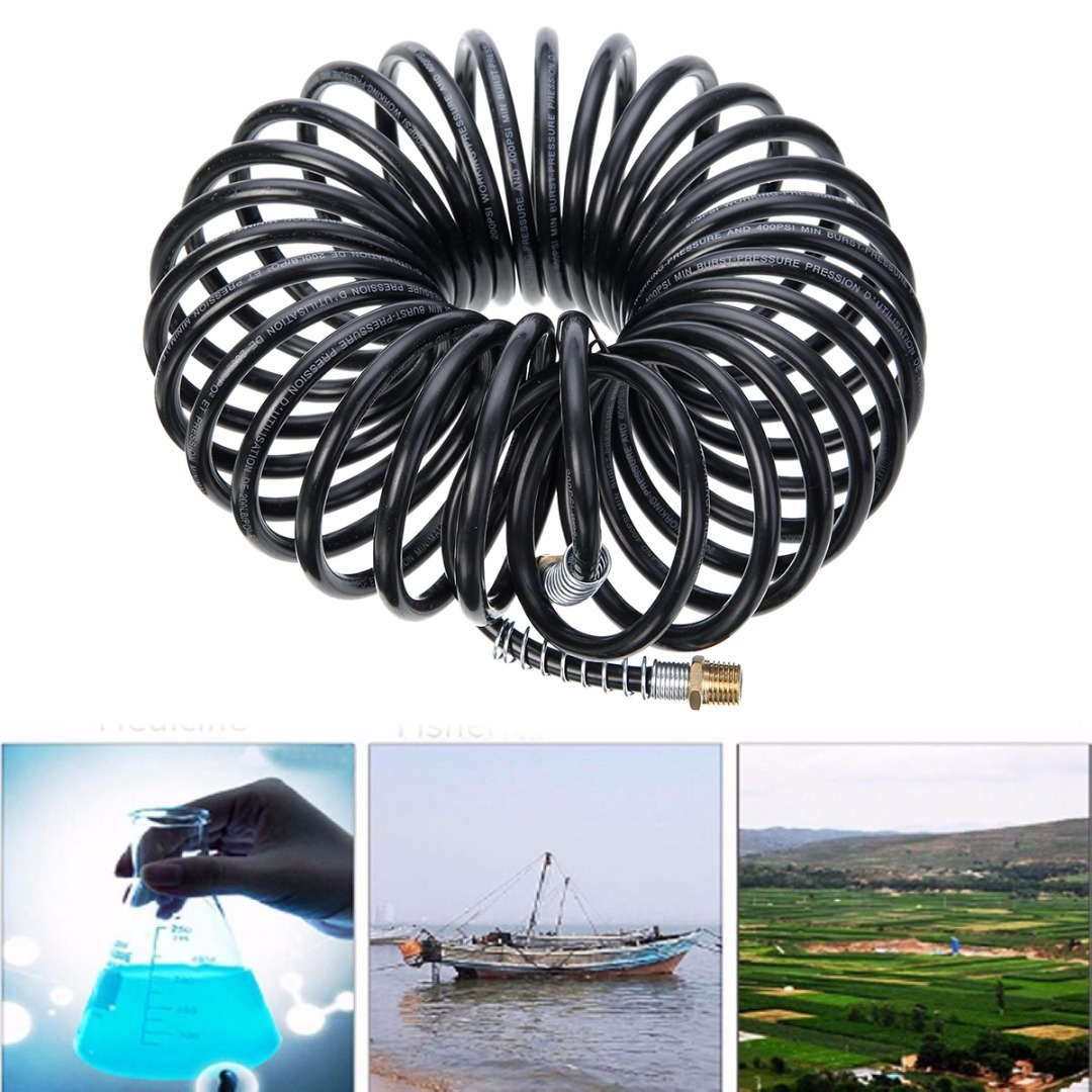 7.5M 25FT 1/4NPT Air Hose Fittings Recoil Pneumatic Airline Compressor Hardware Pneumatic Parts Pipe Fitting Tube Black7.5M 25FT 1/4NPT Air Hose Fittings Recoil Pneumatic Airline Compressor Hardware Pneumatic Parts Pipe Fitting Tube Black