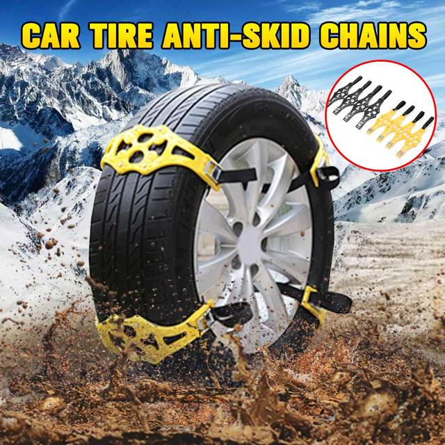 4/8 pcs Snow Chains Car Tyre Winter Roadway Safety Tire Snow Adjustable Anti-skid Safety Double Snap Skid Wheel TPU Chains