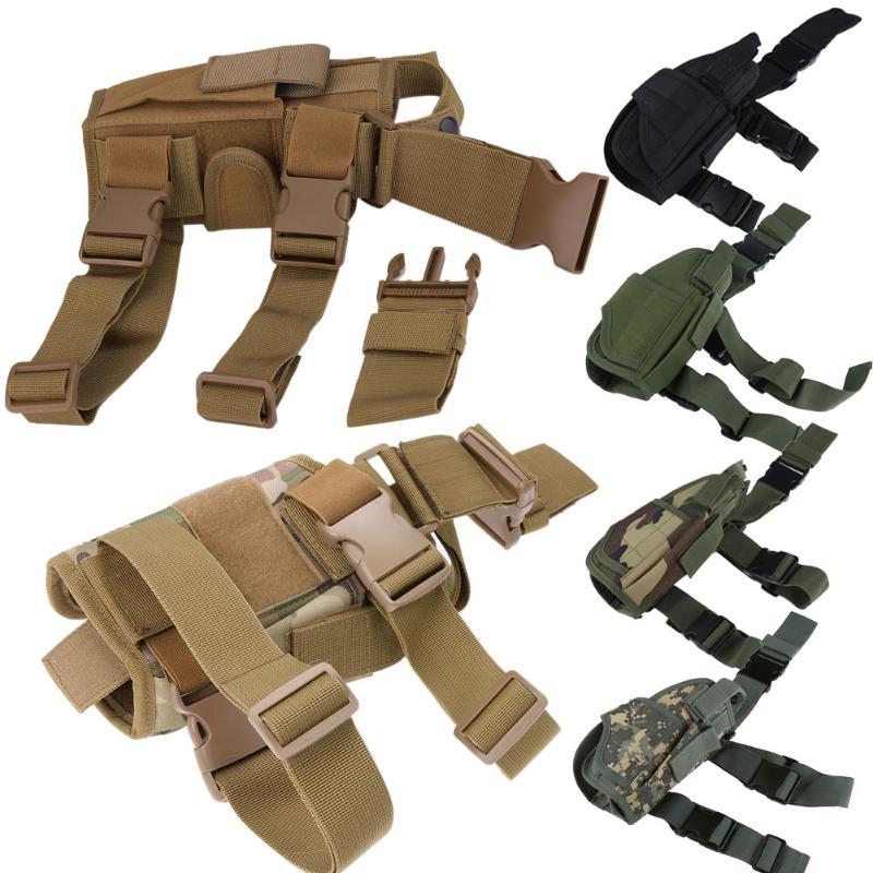Tactical Universal pierna de la gota Holster militar cintura ajustable mano derecha caza Gun Holsters caza pistola bolsa
