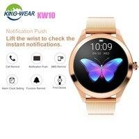 KingWear KW10 Smart Watch 1.04 inch Bluetooth 4.0 Waterproof Ladies Smartwatch Heart Rate Monitor Step Count Sedentary Reminder