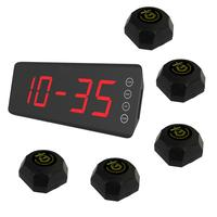 SINGCALL wireless waiter servicing system,servicing custom,5 pcs black color buttons APE560 and one fixed screen receiver SC-R50
