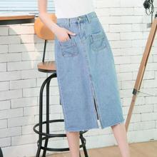 67e1e2294 Compra long elegant denim skirt y disfruta del envío gratuito en ...