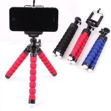 מיני ספוג חצובה עבור טלפון 360 תואר עצלן תמנון מחזיק קליפ פעולה מצלמה חצובה לgopro huawei xiaomi Smartphone Stand