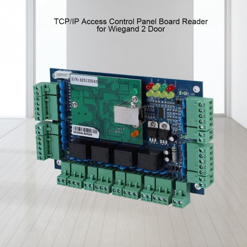 Access Control Dc 12v Network Tcp/ip Access Control Panel Board Reader For Wiegand 4 Door Use