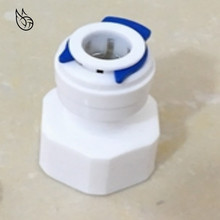 цена на Reverse Osmosis RO Water System Fitting 1/4 3/8 Inch OD Hose Tube 1/4 1/2 3/4 1/8 Female Plastic Pipe Quick Connectors