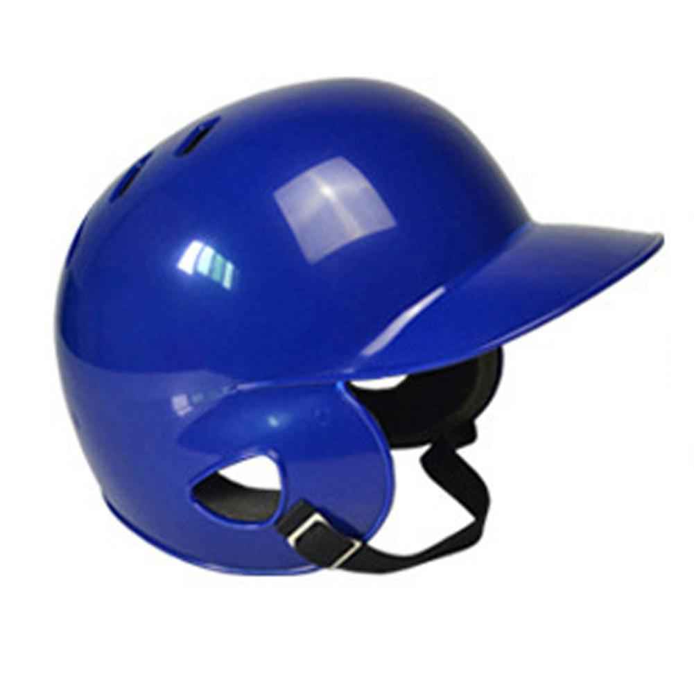 Mounchain Adult Baseball Helmet Double Ears Protection ABS Baseball Helmet Head Guard Blue 55-60 Cm