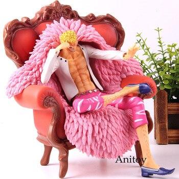 Anime One Piece Action Figure Donquixote Doflamingo Sitting On Sofa PVC Collection Model Toy P.O.P DX Birthday Gift