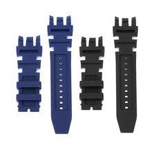 2e809b01465 Nova Preto Azul da Borracha de Silicone Pulseira Set Kit Para Reserva  Subaqua Invicta Homens Relógio