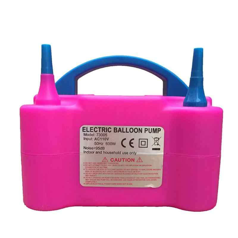 Штепсельная Вилка европейского стандарта на высоком Мощность две насадки переменного тока Надувные электрический насос для шаров насос для накачивания воздушных шаров насос для воздушных шариков портативная воздуходувка