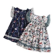 95dad932f1 2019 nowy lato bawełna krótki rękaw sukienki wiek dla 2-10 lat mała  dziewczyny wiosna