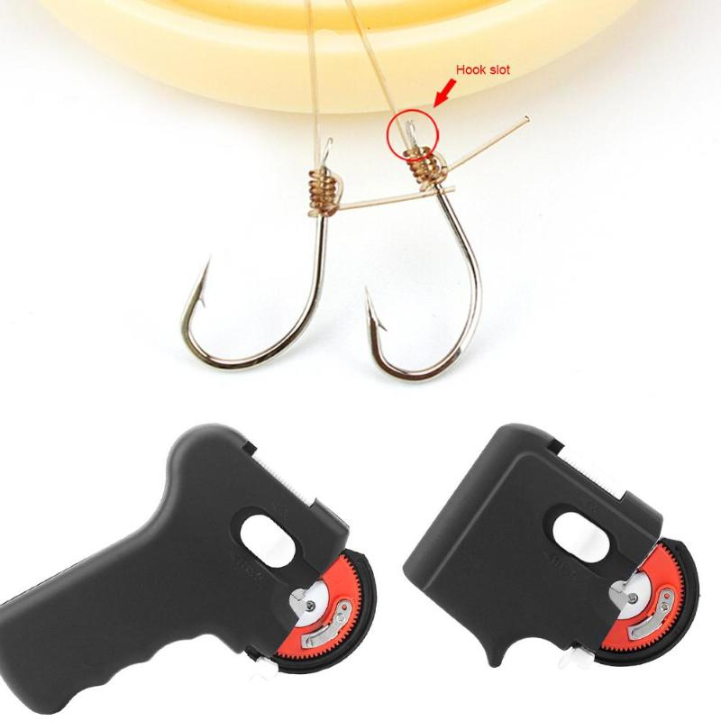 Portable Electric Automatic Fishing Hook Tier Machine Fishing Accessories Tie Fast Fishing Hooks Line Tying Device Equipment
