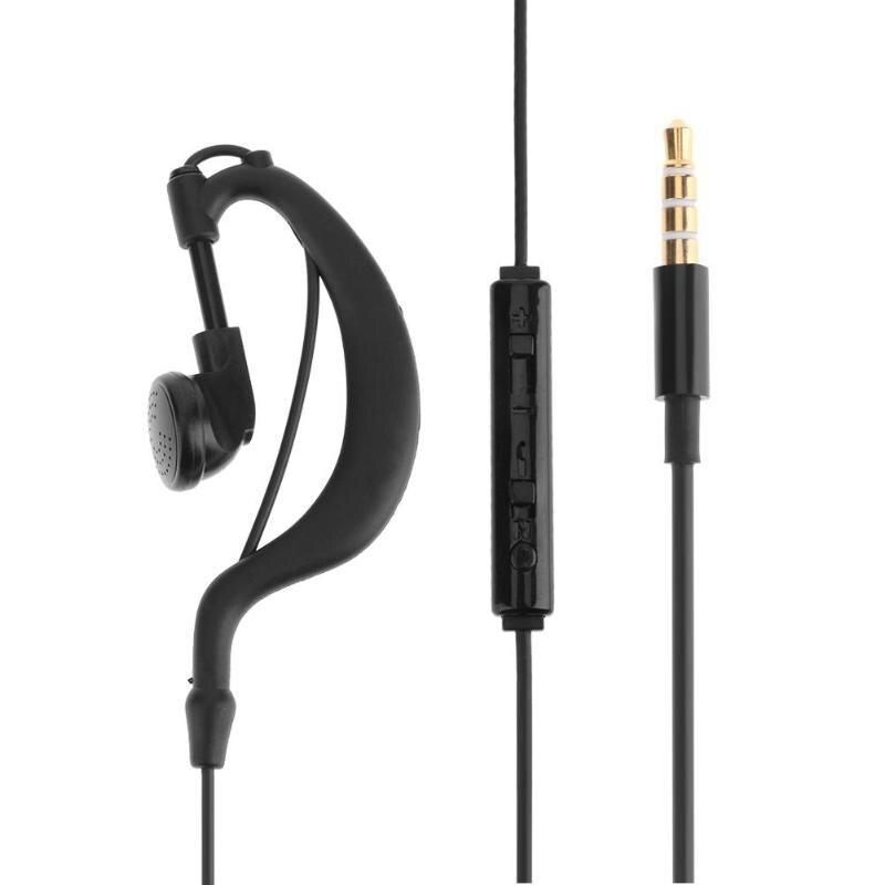 Single 3.5mm In-Ear Only Mono Earphone Earbud Headphone with Mic