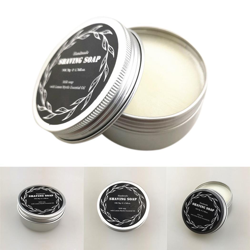 Men's Natural Soft Shaving Cream Shaving Soap For Men 70G Milk Lather Barber Salon Shave Beard Cream Soap Facial Cleaning Tools
