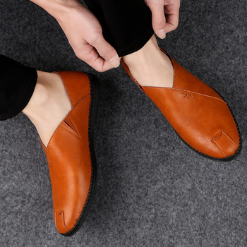 Breathable Leather Luxury Fashion Slip On Driving Shoes