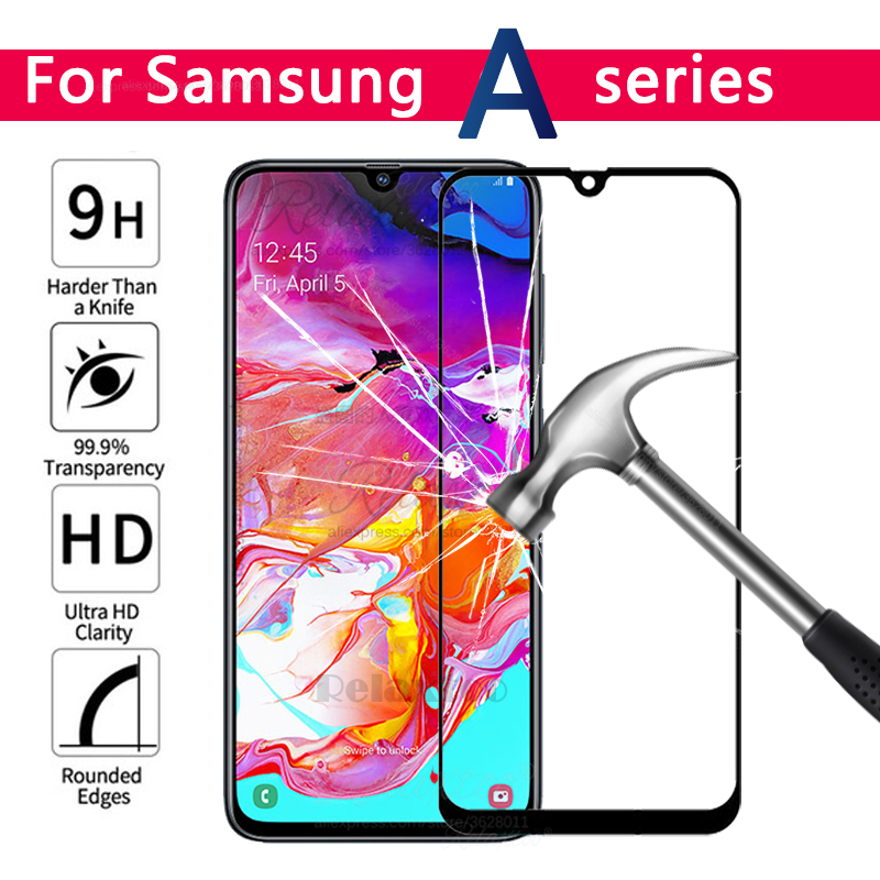 <font><b>A</b></font> 70 60 <font><b>50</b></font> 40 30 20 10 Tempered <font><b>Glass</b></font> For <font><b>Samsung</b></font> Galaxy A70 A60 A50 A40 A30 A20 A10 For <font><b>Samsung</b></font> A505F A606F protective glas 9H image