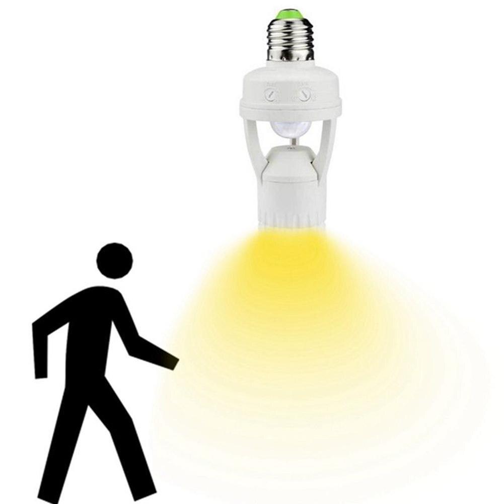 Adeeing E27 LED Lamp Bulb Holder Light Socket Switch Infrared PIR Motion Sensor Human Body Sensors