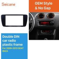 Seicane Car Radio Double Din Fascia Dash Mount Fitting Adapter Frame Cover Mount Kit for SEAT IBIZA Multimedia Player Trim 2Din