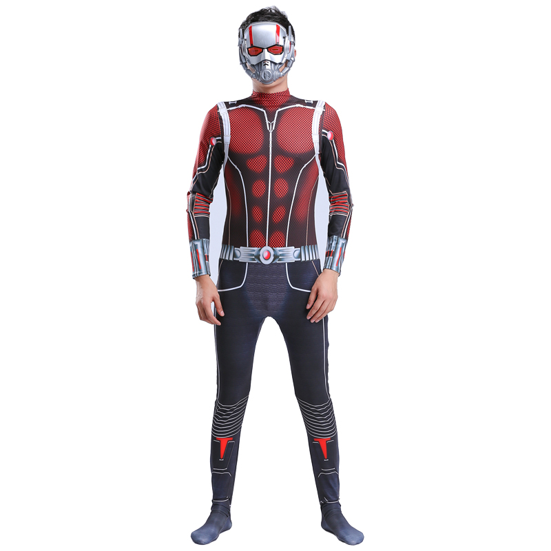 Adult Ant-man Costume Cosplay Ant Man For Kids Superhero Halloween Jumpsuit