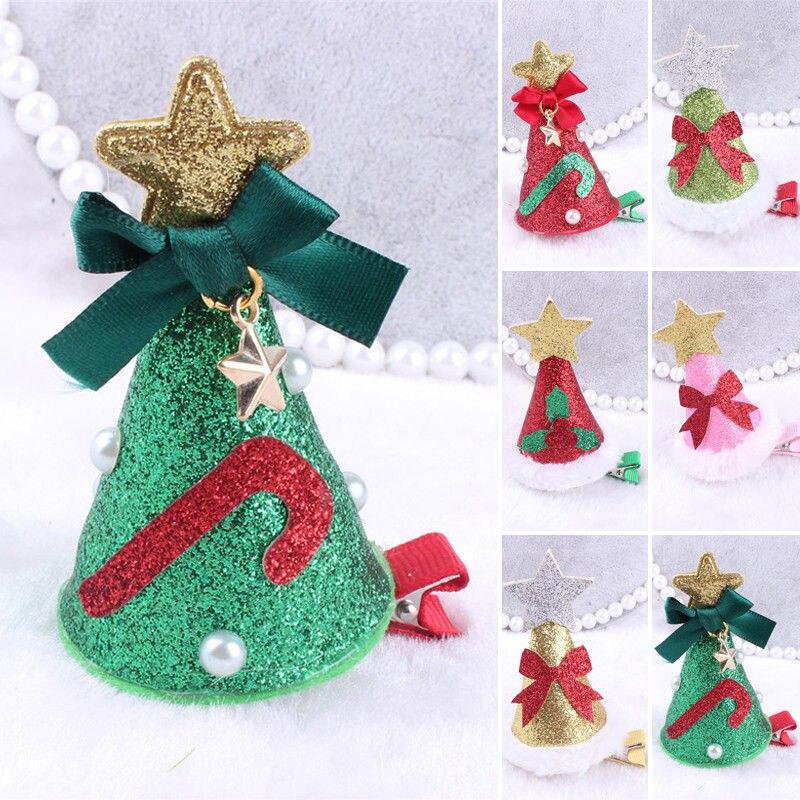 Big Christmas Hat Boutique Hair Clip Clips Grosgrain Ribbon Flower Baby Girl