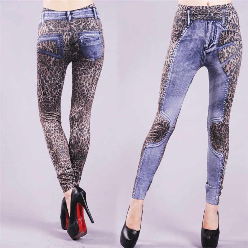 2019 Vrouwen Sexy Luipaard Print Clubwear Lange Leggings Hoge Taille Skinny Potlood Broek