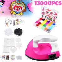 With Iron 13000pcs/bag 2.6mm Fuse Beads Puzzles Hama Beads 24 Colors Craft Peg Board Activity Educational Gift Kid Toy DIY